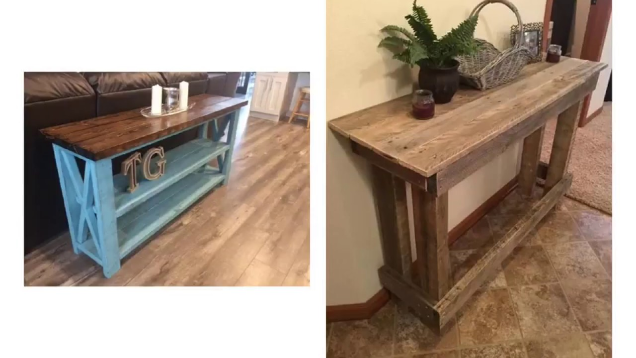 make a rustic sofa table tufted leather craigslist fresh diy console for better decoration youtube