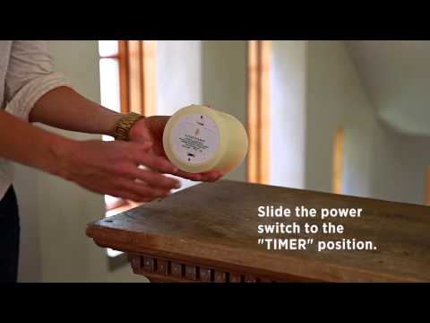 luminara candle timer instructions