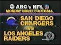 1982 Week 11 MNF - Chargers vs Raiders