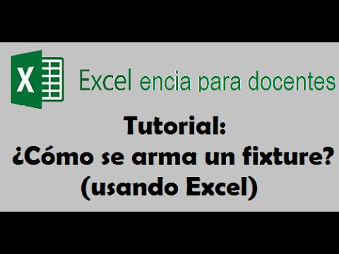 Tutorial Fixtures en Excel