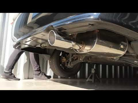 Apexi World Sport 2 Exhaust on a 2000 Honda Civic Si