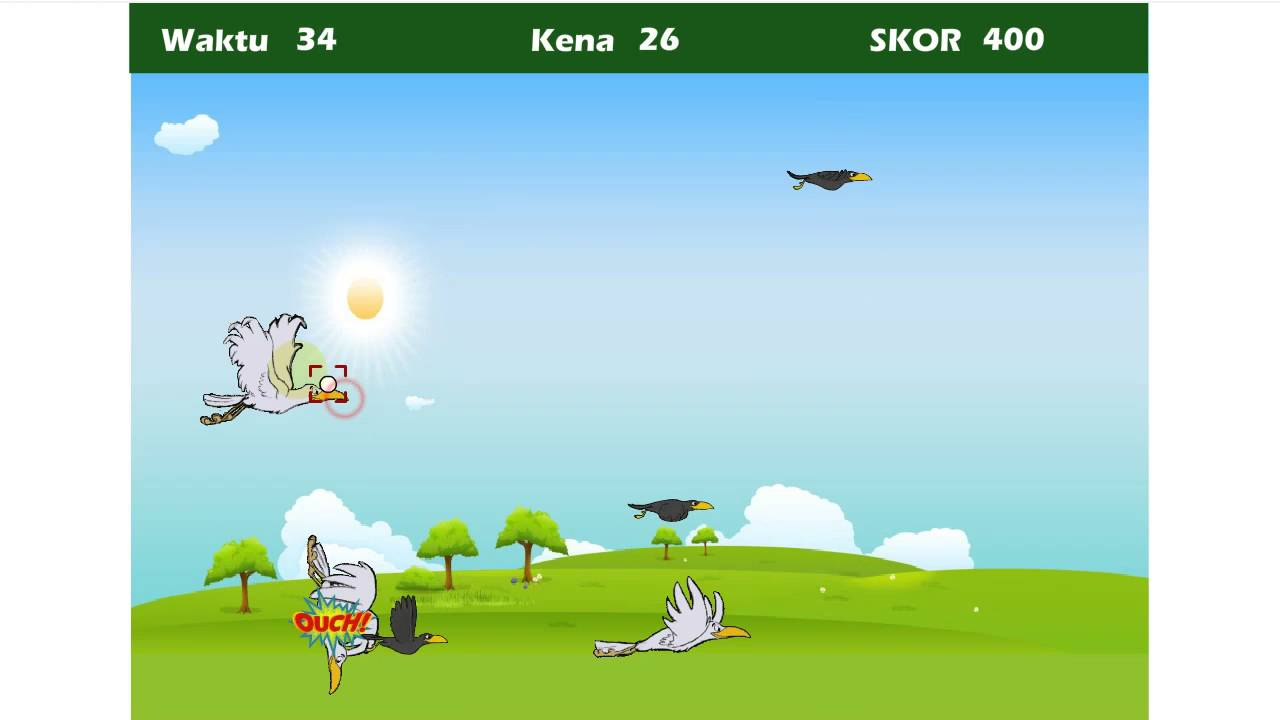 Download Game + Source Code Flash Tembak Burung (Swf + File Fla)