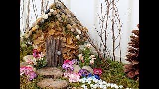 Осенняя поделка.Дом из природных материалов.