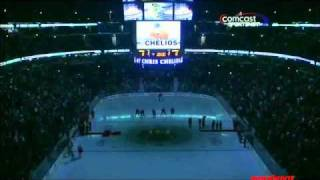 Chris Chelios Honored By The Blackhawks .and Booed By The Fans