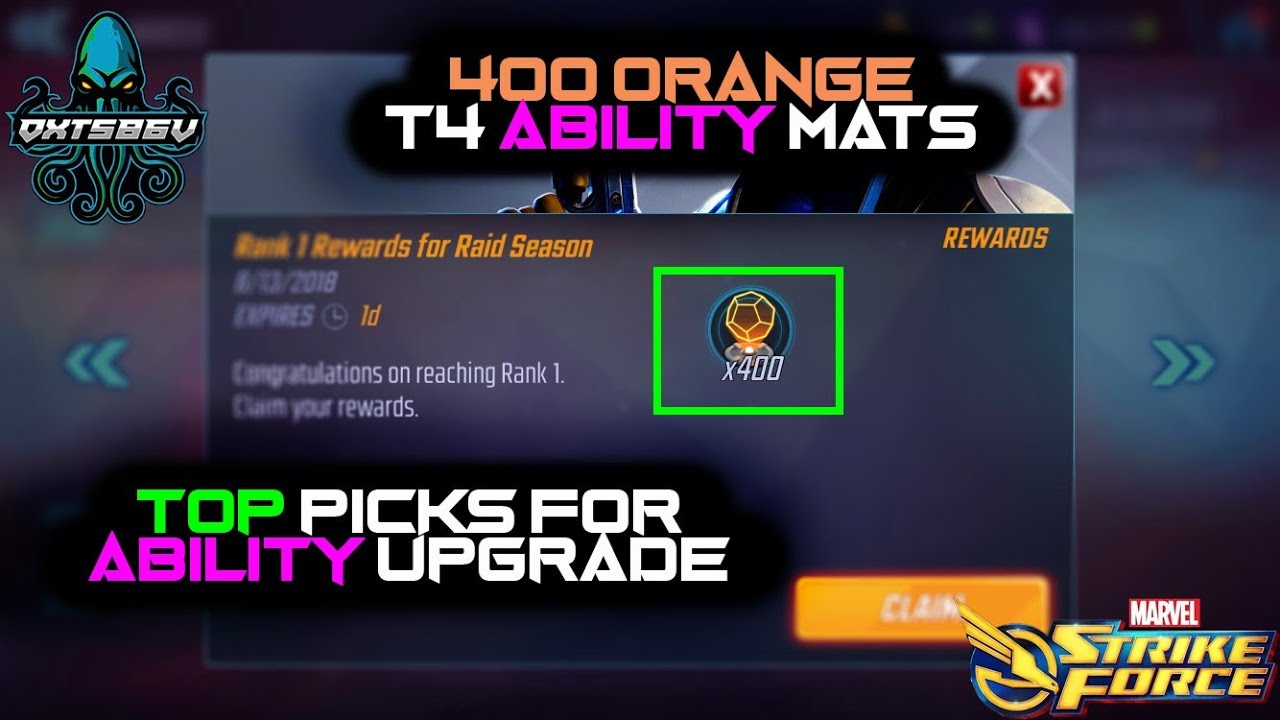 Repeat BEST Abilities For Orange T4 Materials + Maxed Out BW