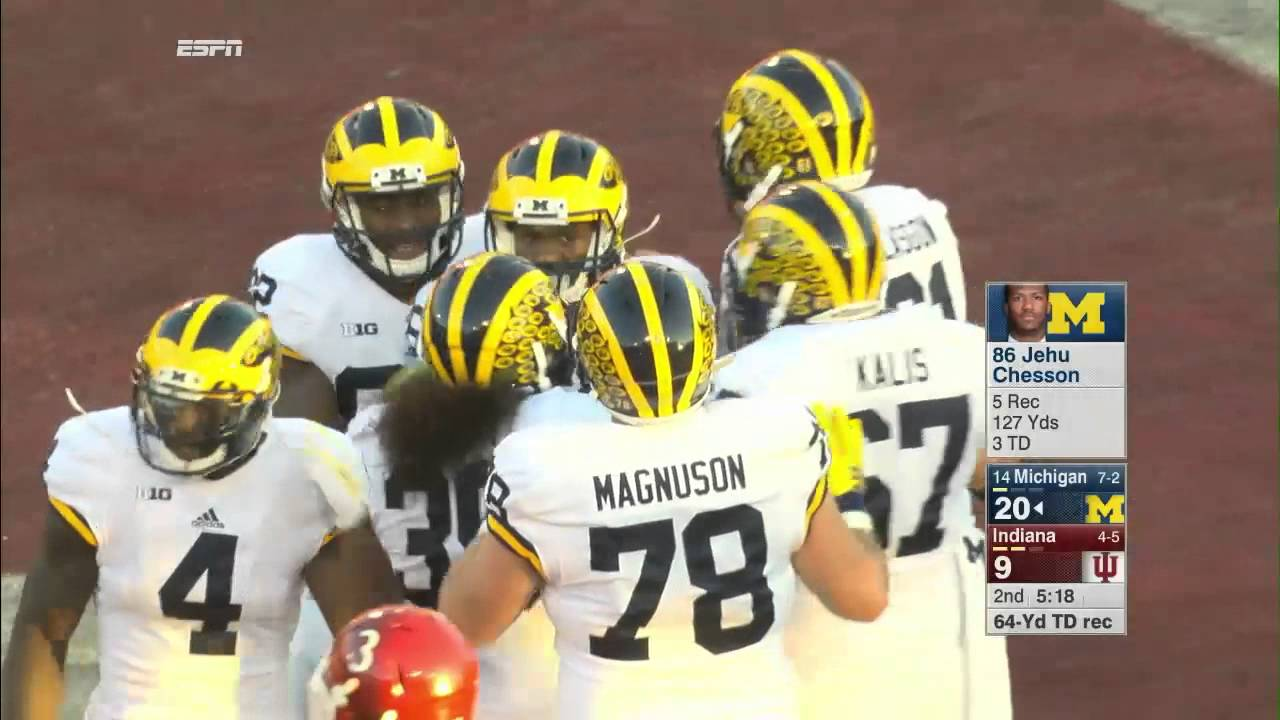 separation shoes cfabc 0901f Jehu Chesson 64-Yard Touchdown Catch vs. Indiana