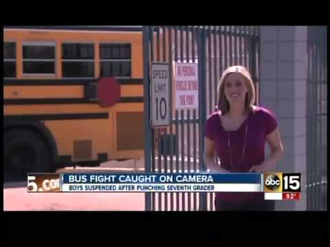 Bully bus beating caught on cell camera