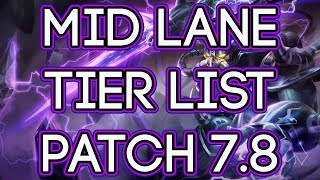 Mid Lane Tier List Patch 7.9 | Best Mid Laners For Carry Solo Queue 7.9