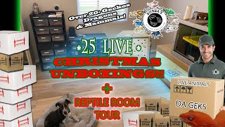 CHRISTMAS 2019- 25 REPTILE UNBOXINGS + CHRISTMAS 2019 REPTILE ROOM TOUR!!!
