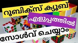How to solve a Rubik's cube in malayalam/ റുബിക്സ് ക്യൂബ് എങ്ങനെ എളുപ്പത്തില് സോള്വ് ചെയ്യാം?