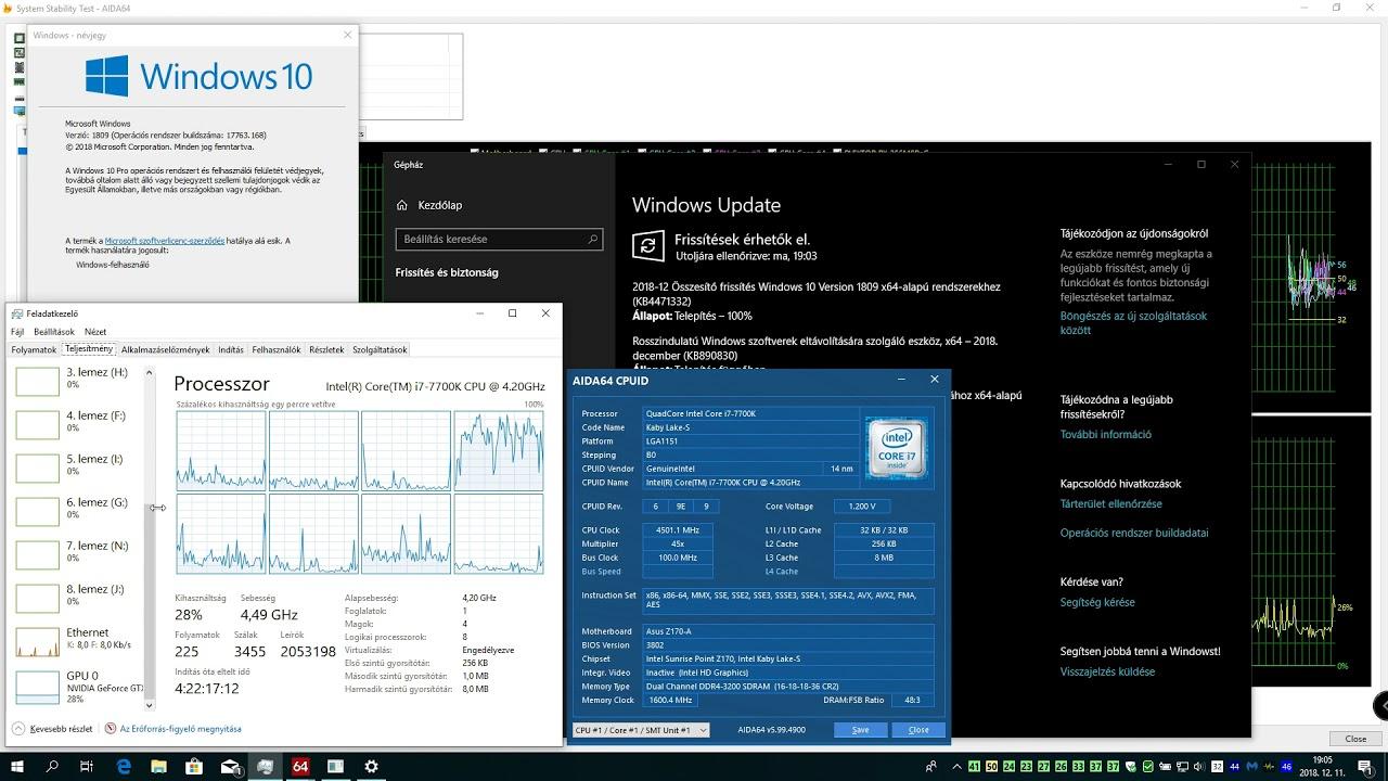 Windows 10, version 1809 OS Build 17763 194