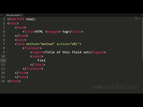 HTML Keygen Tag