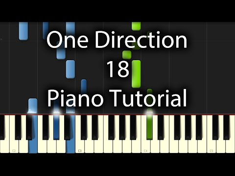 Piano 18 piano chords : One Direction - 18 Tutorial (How To Play On Piano) - YouTube