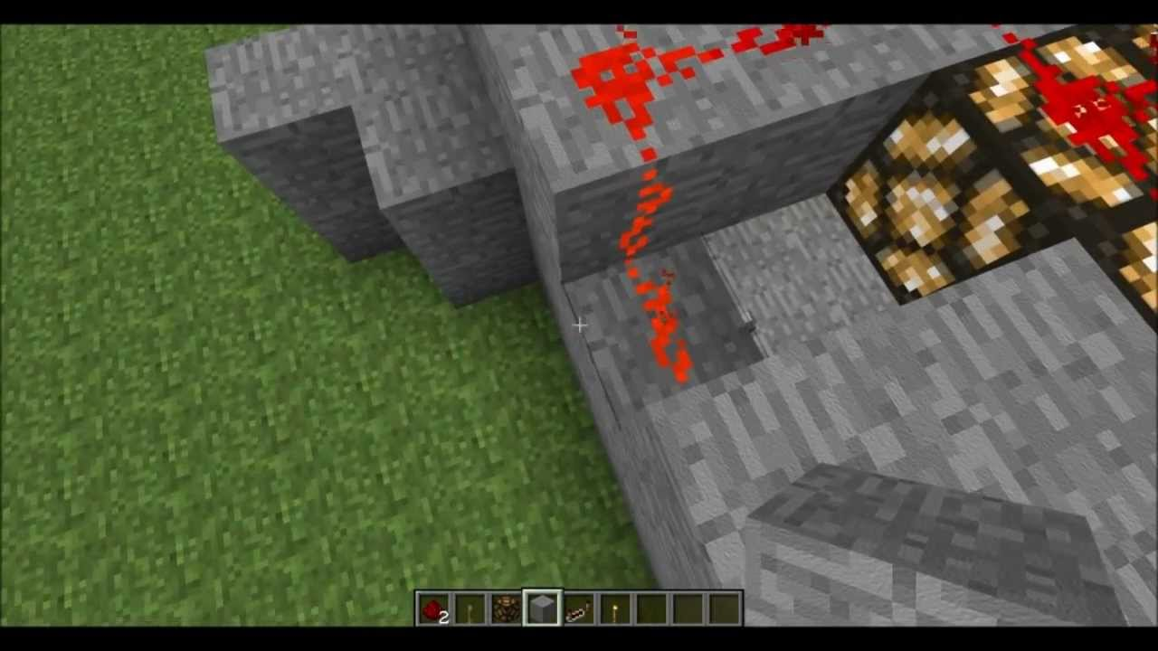 Minecraft How To Make A Redstone Lamp Lighting System - YouTube