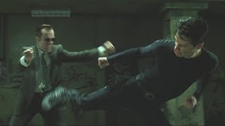 Бой Нео против агента Смита в метро.(Матрица 1999)\The battle  Neo vs Agent Smith in the subway