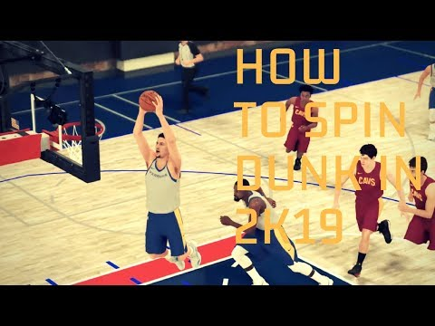 How To Euro & Spin Dunk In 2K19!!