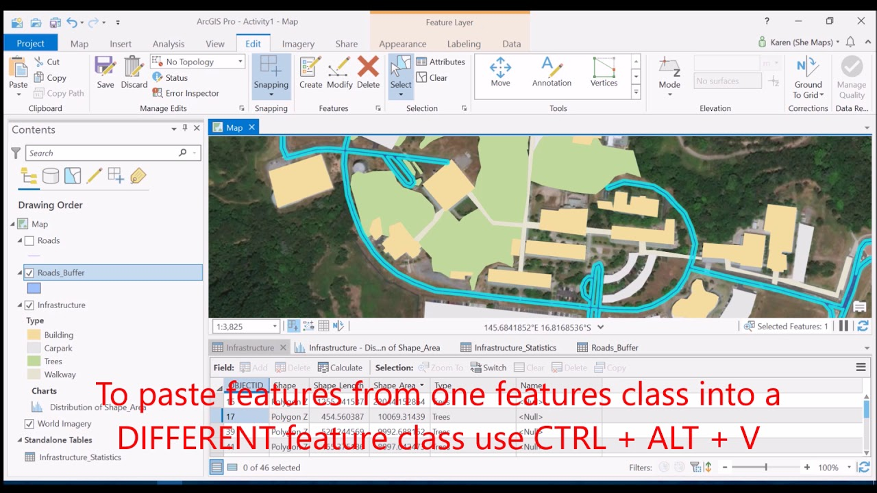 Copying and Pasting Features Between Feature Classes in ArcGIS Pro