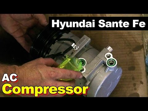 2003 Hyundai Santa Fe AC Compressor Replacement