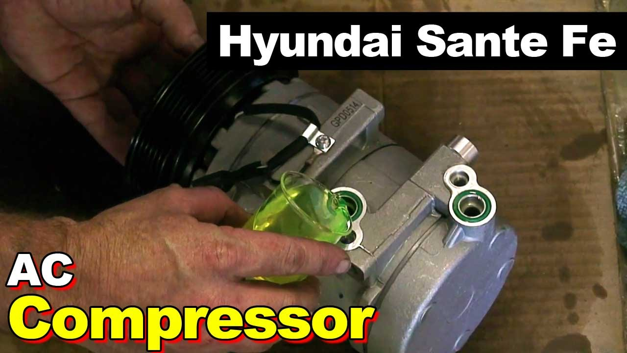 2003 Hyundai Santa Fe Ac Compressor Youtube