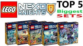 Lego Nexo Knights Top 5 Biggest Sets of all Time - Lego Speed Build Review