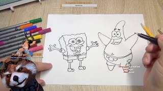 Как нарисовать Спанч боба и Патрика