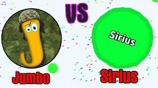 JUMBO vs SIRIUS // Agario Last Man Standing Gameplay // Agar.io