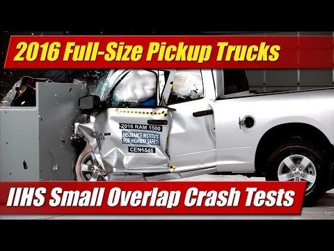 2016 Full Size Pickup Trucks: IIHS Small Overlap Crast Tests