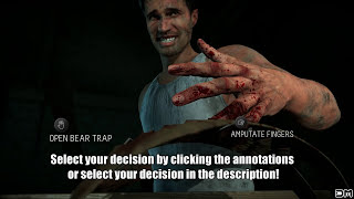 Until Dawn Amputate Your Fingers Or Open Bear Trap? Make Your Choice! (interactive Video)
