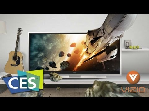 Vizio's 21:9 Widescreen HDTV, Plus Media Software for PCs! - CES 2012