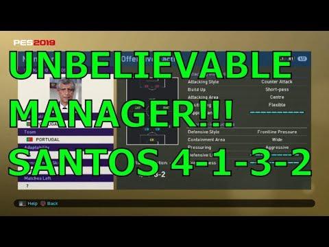 PES 2019 myClub - Fernando Santos 4132 Review!