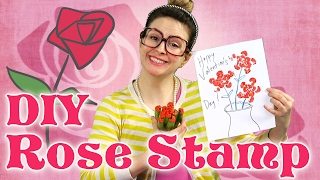 DIY Rose Stamp! - Valentine's Day DIY Part 2 | Arts and Crafts with Crafty Carol