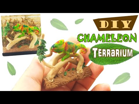 DIY CHAMELEON TERRARIUM TANK Resin, Alcohol Inks, Polymer Clay Tutorial