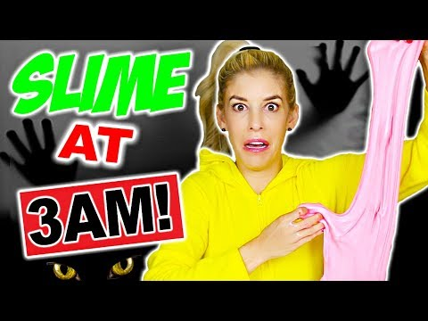 Thumbnail: MAKING SLIME AT 3AM CHALLENGE!!