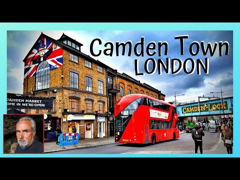 The most popular market of LONDON, CAMDEN MARKET on a busy Sunday