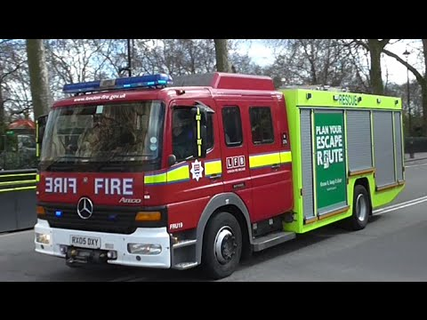 London Fire Brigade Fire Rescue Units Responding urgently