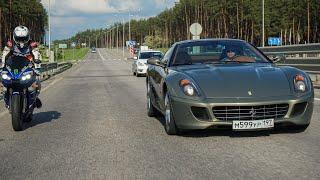 Ужасные 27 Попыток Обогнать Ferrari 599 Gtb 620 Сил На Audi A7 498 Сил