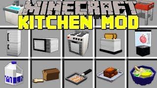 Minecraft KITCHEN MOD - CRAFT OVENS, MICROWAVES, BLENDERS, REFRIGERATORS & MORE! - Modded Mini-Game