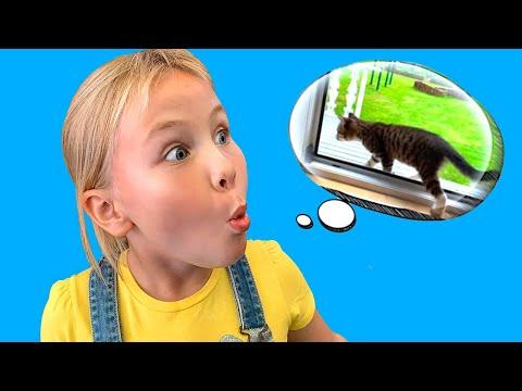 Мой Маленький  Котенок Убежал и ПОТЕРЯЛСЯ / Видео для детей про Котят