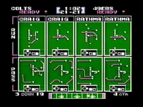Colts vs 49ers Tecmo Super Bowl (NES) full game, EPIC overtime