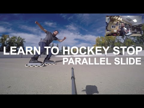 How To Hockey Stop On Rollerblades (How To Parallel Slide)