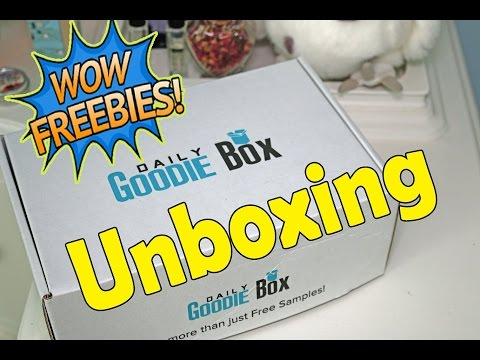DAILY GOODIE BOX Unboxing FREE Samples! Free Shipping! Snacks, Drinks & More!