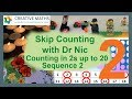 Skip Counting with Dr Nic, in 2s to 20, Sequence 2