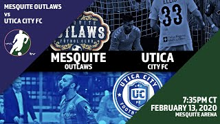 Mesquite Outlaws vs Utica City FC