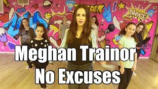 Meghan Trainor - No Excuses Dance + TUTORIAL Choreography by: Shaked David