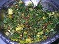 Thotakoora Podi Koora - Amaranth & Potatoes Curry - Andhra Recipes