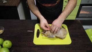 как приготовить  гуся в духовке.