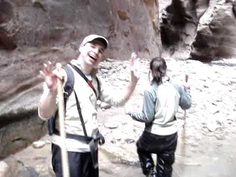 Croix and Tina Sather with David Asarnow in Zion C...