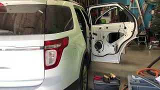 2011-2018 Ford Explorer rear door window replacement by Alfredo's Auto Glass repair