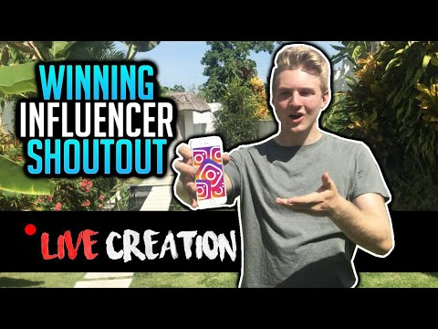 How To Make A Winning Instagram Influencer Shoutout (LIVE Creation)