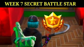 FORTNITE SEASON 10 WEEK 7 SECRET BATTLE STAR - WEEK 7 SUMMER SLURP BATTLE STAR LOCATION (SEASON X)